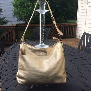 Kate Spade Leather Gold Shoulder Bag